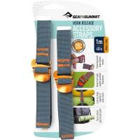 Sea to Summit Tie Down Hook Strap - 2 Stk. 20 mm x 1,0 m gelb