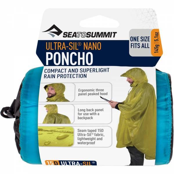 Sea to Summit Ultra-Sil® Nano Poncho - Regencape blue - Bild 3