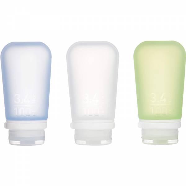 humangear GoToob+ 3er Pack - 3 x 100 ml Tube transparent-grün-blau - Bild 2