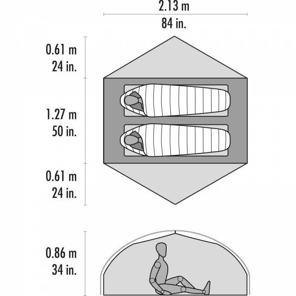 MSR Carbon Reflex™ 2 - 2 Personen Zelt - Bild 4