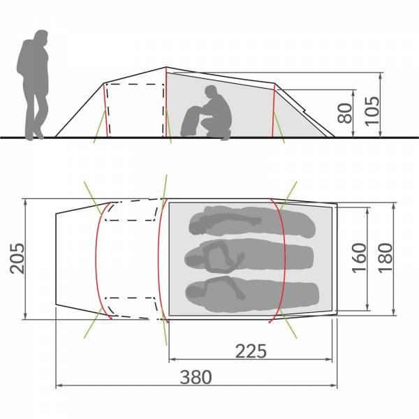 VAUDE Arco XT 3P - Drei-Personen-Tunnelzelt - Bild 6