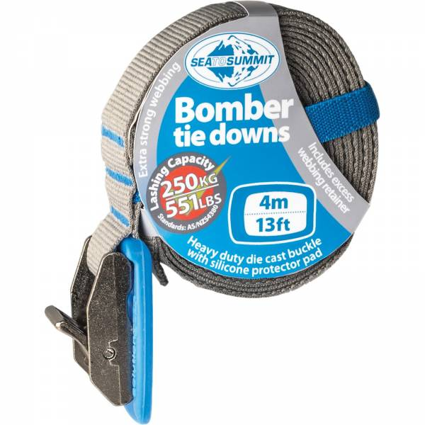 Sea to Summit Bomber Tie Down Strap - 4 m blue - Spanngurt - Bild 1