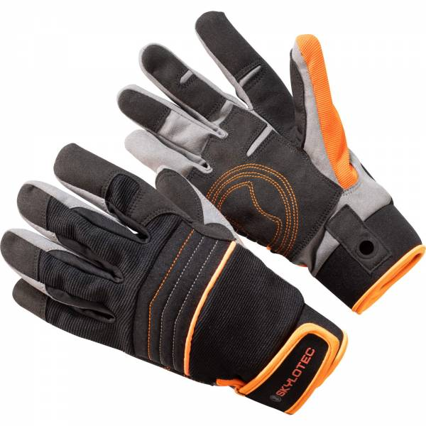 Skylotec SkyGrip Full Finger - Klettersteighandschuhe black-orange - Bild 1