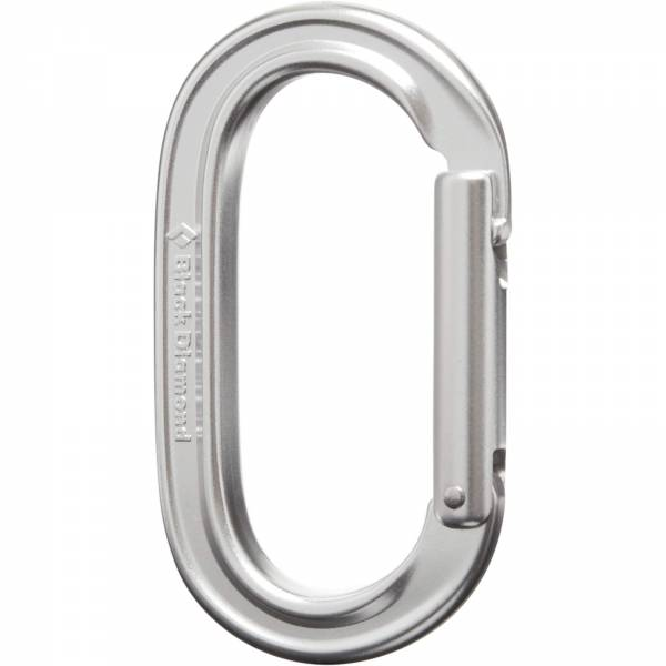 Black Diamond Oval Keylock - Karabiner silver - Bild 2