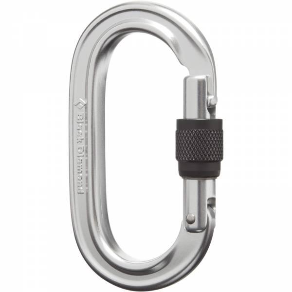 Black Diamond Oval Keylock Screwgate - Karabiner silver - Bild 2