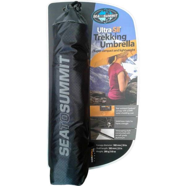 Sea to Summit Ultra-Sil Trekking Umbrella - Regenschirm schwarz - Bild 1