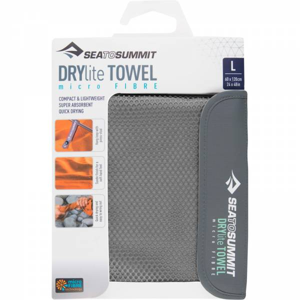 Sea to Summit DryLite Towel L - Camping-Handtuch grey - Bild 1