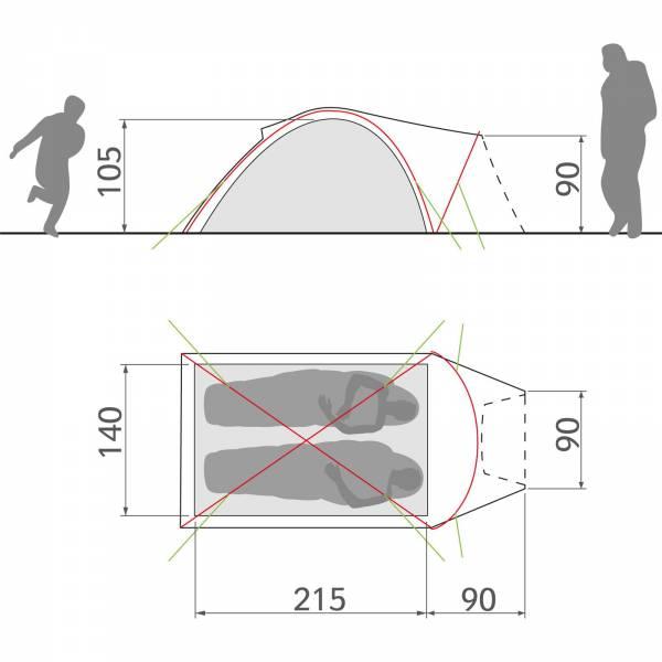 VAUDE Campo Compact XT 2P - Zwei-Personen-Zelt - Bild 7