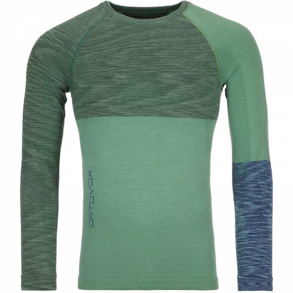 Ortovox Men's 230 Competition Long Sleeve green isar blend - Bild 3