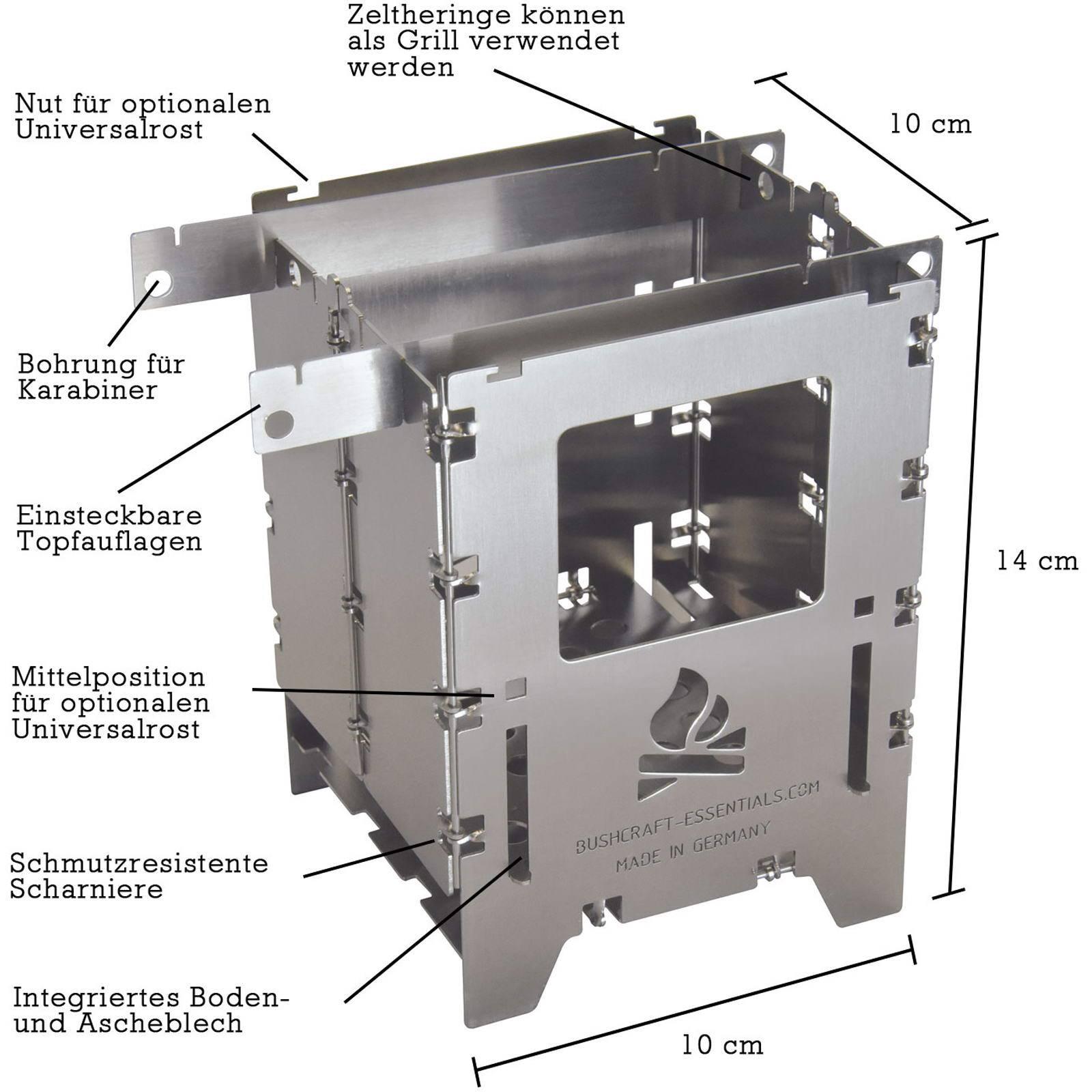 bushcraft essentials Bushbox LF Titanium - Hobo-Kocher - Bild 2
