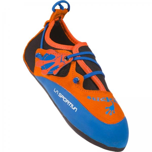 La Sportiva Stickit - Kinder-Kletterschuh lily orange-marine blue - Bild 3