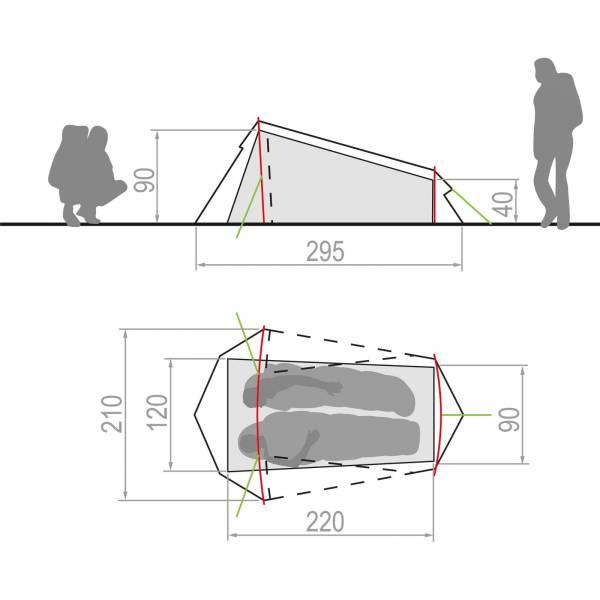 VAUDE Arco 1-2P - Tunnelzelt - Bild 7