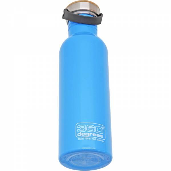 360 degrees Stainless Drink Bottle mit Bamboo Cap - 750 ml sky blue - Bild 4