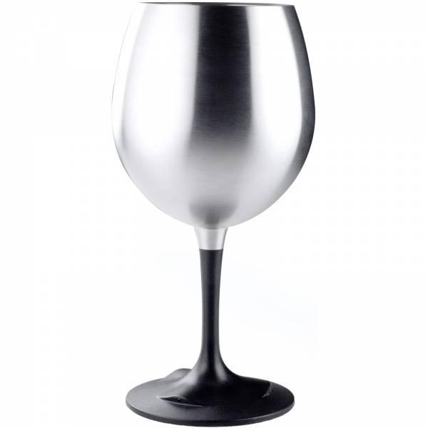 GSI Glacier Stainless® Nesting Red Wine Glass™ silver-black - Bild 1