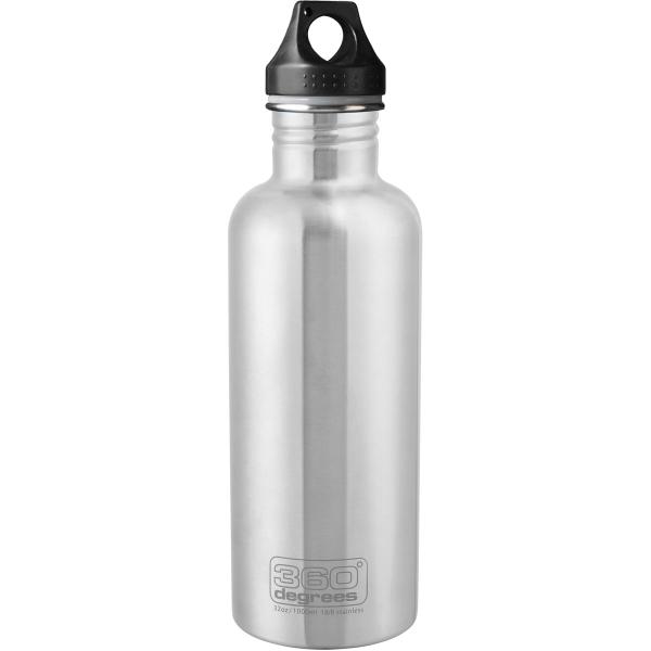360 degrees Stainless Drink Bottle - 1000 ml - Trinkflasche silver - Bild 1