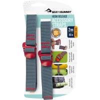 Sea to Summit Tie Down Hook Strap - 2 Stk. 20 mm x 2,0 m rot