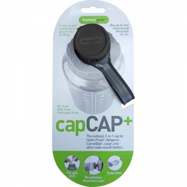 humangear capCAP+ - Flaschendeckel Plus schwarz - Bild 3
