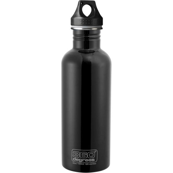 360 degrees Stainless Drink Bottle - 1000 ml - Trinkflasche black - Bild 2