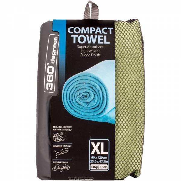 360 degrees Compact Microfibre Towel XL - Handtuch lightgreen - Bild 1