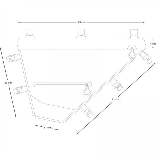 Apidura Expedition Full Frame Pack 7,5 L - Rahmentasche - Bild 5
