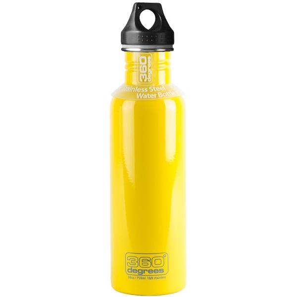360 degrees Stainless Drink Bottle - 750 ml - Trinkflasche yellow - Bild 1