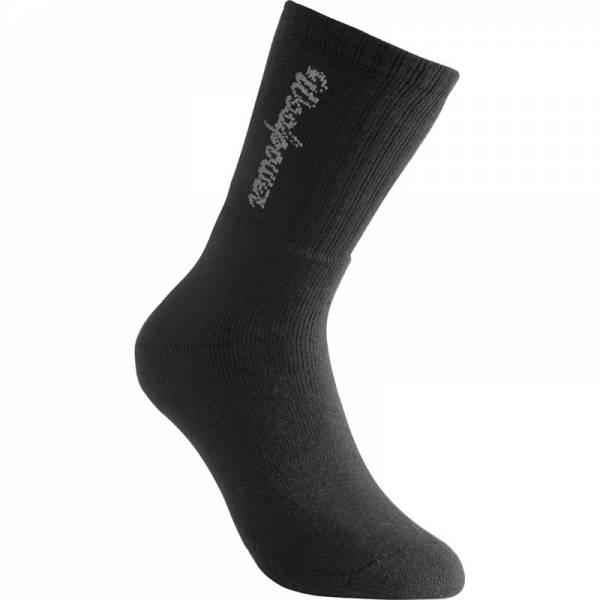 Woolpower Sport Socke mit Logo 400 schwarz - Bild 1