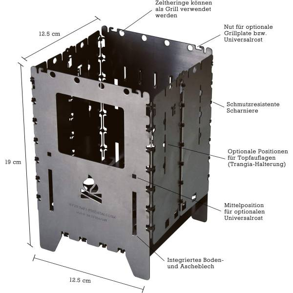 bushcraft essentials Bushbox XL Titanium - HOBO Kocher - Bild 3