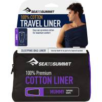 Vorschau: Sea to Summit Premium Cotton Travel Liner Mummy - Inlet navy blue - Bild 1