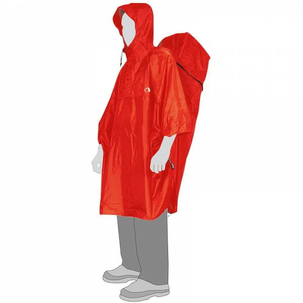 Tatonka Cape Men L - Poncho red - Bild 1