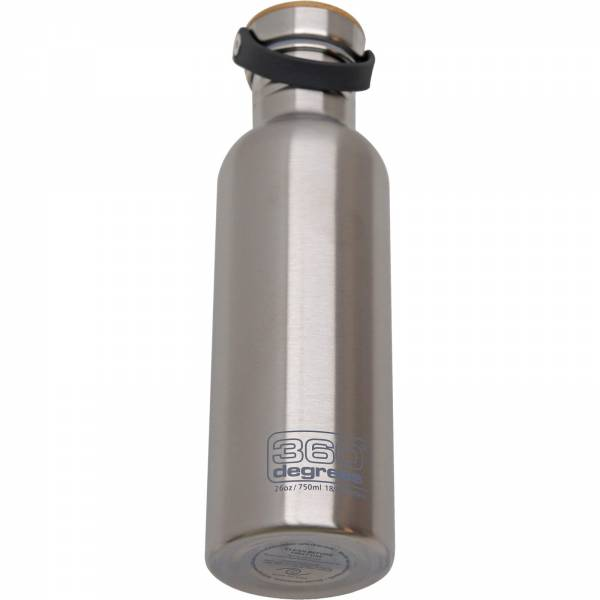 360 degrees Stainless Drink Bottle mit Bamboo Cap - 750 ml silver - Bild 2