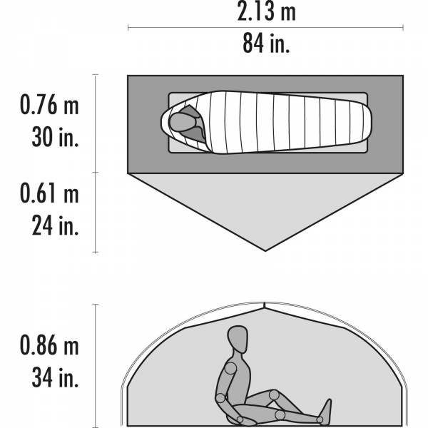 MSR Carbon Reflex™ 1 - 1 Personen Zelt - Bild 4